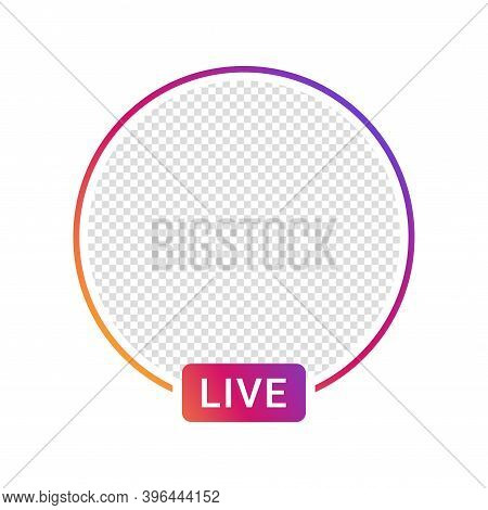 Live Video Streaming Icon For Social Media. Social Media App Design Element, Live Streaming, Online