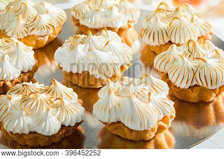 The Delicious Lemon Tartlets With Meringue For The Holiday