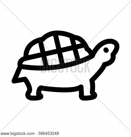 Turtle Icon. Tortoise Sign In Line Style.
