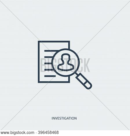 Vector Outline Icon Of Legal Proceedings - Investigation