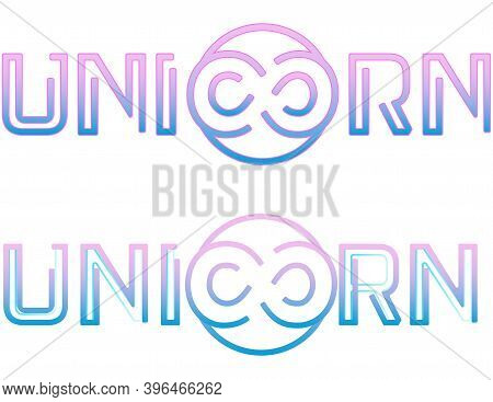 The Neon Unicorn Text Logo, And The Infinity Symbol Instead Of The Letters C And O, Looks Like A Chi