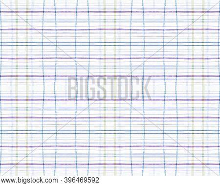 White And Blue Tartan Prints. Seamless Buffalo Kilt. British Check Texture. Rustic Man Flannel. Geom