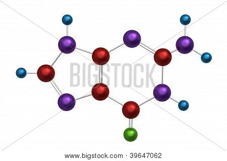 Molecule of guanine