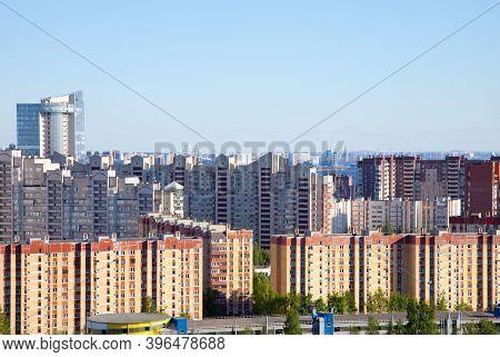 Residential District In Severo-primorskaya Area Of St. Petersburg, Primorsky District, Russia.