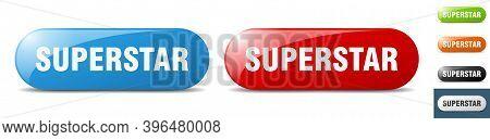 Superstar Button. Key. Sign. Push Button Set