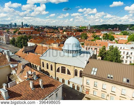 Aerial View Of Choral Synagogue Of Vilnius, The Only Synagogue Of Vilnius That Is Still In Use.