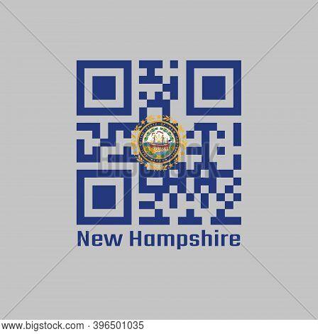 Qr Code Set The Color Of New Hampshire Flag. The States Of America, The State Seal Of New Hampshire