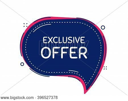Exclusive Offer. Thought Bubble Vector Banner. Sale Price Sign. Advertising Discounts Symbol. Dialog