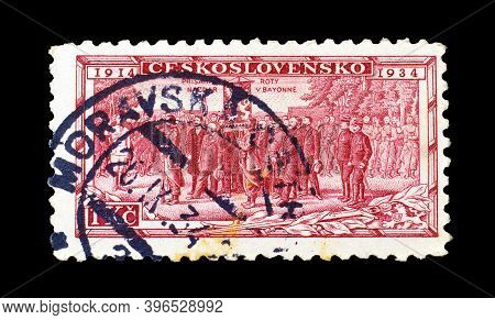 Czechoslovakia - Circa 1934 : Cancelled Postage Stamp Printed By Czechoslovakia, That Shows Consecra