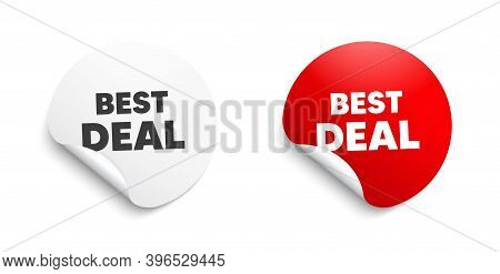 Best Deal. Round Sticker With Offer Message. Special Offer Sale Sign. Advertising Discounts Symbol.