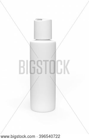 Cosmetic Bottle Mockup With Flip Cover Isolated On White Background - 3d Render