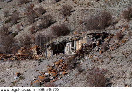 View Of Saklya In Balkar Village In North Caucasus