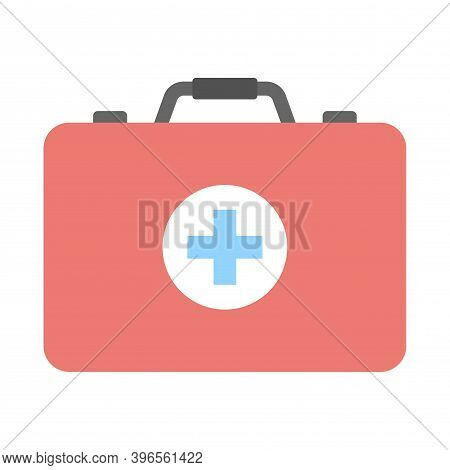 First Aid Box Icon. Emergency Help Kit. Medical Bag Sign. Flat Icon Illustration For Perfect Web And