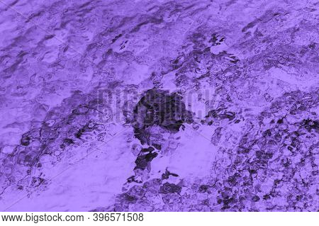 Purple Violet Patchy Abstract Blurred Background With Water Glare Pattern