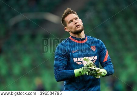 Krasnodar, Russia - November 24, 2020: Tomas Vaclik Of Sevilla Fc Before The Uefa Champions League G