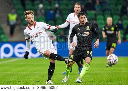Krasnodar, Russia - November 24, 2020: Ivan Rakitic Of Sevilla Fc In Action During The Uefa Champion