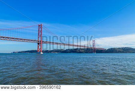 The 25 de Abril Bridge (Ponte 25 de Abril) is a suspension bridge in Lisbon over Tagus river, in Portugal.