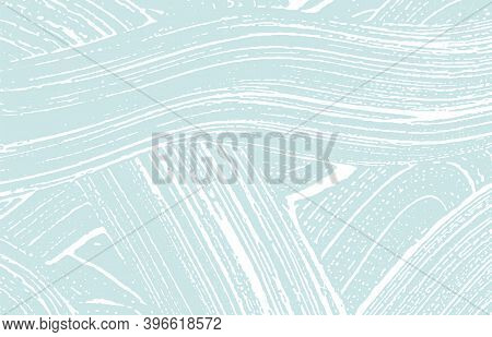 Grunge Texture. Distress Blue Rough Trace. Curious Background. Noise Dirty Grunge Texture. Good-look