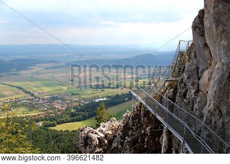 Exciting Rock Path At Hohe Wand Naturepark In Lower Austria / Active Summer Holiday Adventure