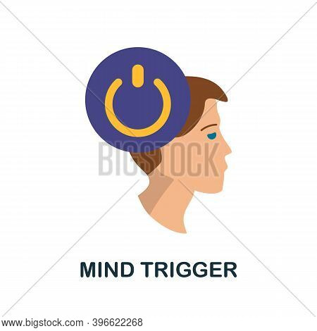 Mind Trigger Icon. Simple Element From Personality Collection. Creative Mind Trigger Icon For Web De
