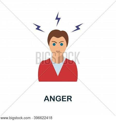 Anger Icon. Simple Element From Personality Collection. Creative Anger Icon For Web Design, Template