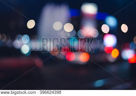 Bokeh Abstract Background.  Background Image Of Abstract Shapes. Abstraction Background. Light Bokeh