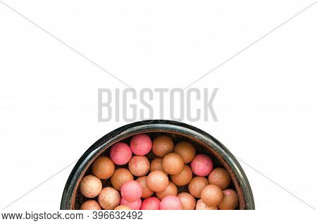 Powder Balls Isolated On White Background. - Image