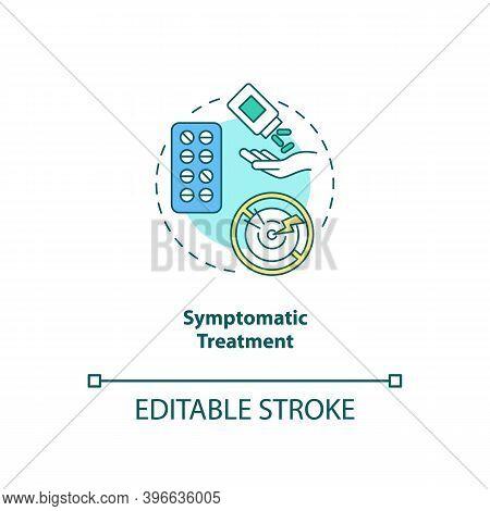 Symptomatic Treatment Concept Icon. Cfs Cure Idea Thin Line Illustration. Supportive Care. Medical T