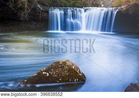 Nellies Glen Waterfall And Swimming Hole In Southern Highlands Of Nsw Australia