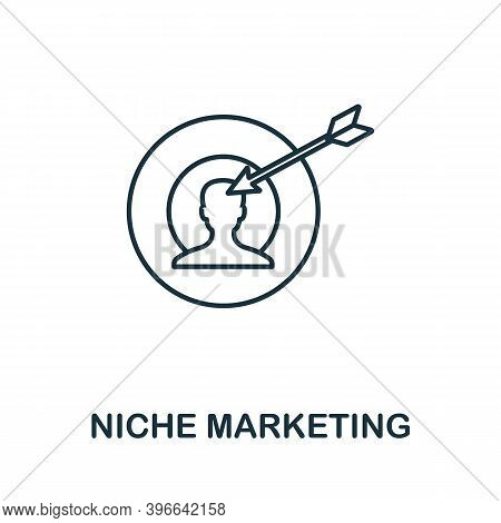 Niche Marketing Icon. Simple Line Element From Affiliate Marketing Collection. Thin Niche Marketing