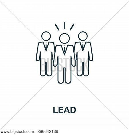 Lead Icon. Simple Line Element From Affiliate Marketing Collection. Thin Lead Icon For Templates, In