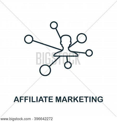 Affiliate Marketing Icon. Simple Line Element From Affiliate Marketing Collection. Thin Affiliate Ma