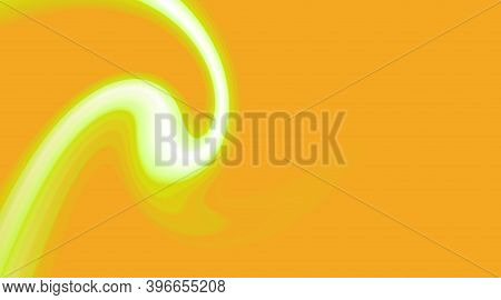 Green Orange Color Waves, Abstract Light Background. Design Streaks, Futuristic Cover, Creative Grap