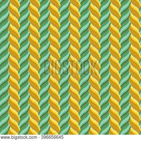 Abstract Illustration Based On Weaving Bargello