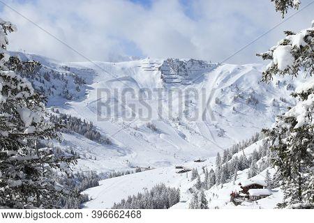 Mayrhofen - Austrian Alps Winter Ski Resort In Tyrol. Austrian Central Alps.
