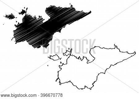 Homa Bay County (republic Of Kenya, Nyanza Province) Map Vector Illustration, Scribble Sketch Homa B
