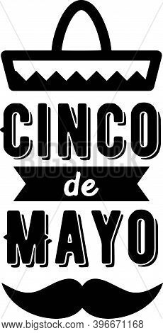 Cinco De Mayo On The White Background. Vector Illustration