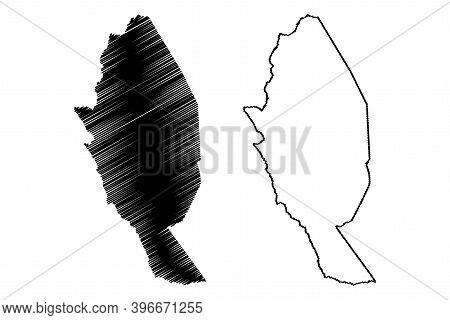 Kitui County (republic Of Kenya, Eastern Province) Map Vector Illustration, Scribble Sketch Kitui Ma