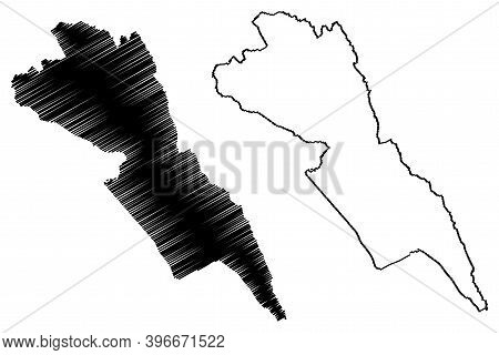 Makueni County (republic Of Kenya, Eastern Province) Map Vector Illustration, Scribble Sketch Makuen