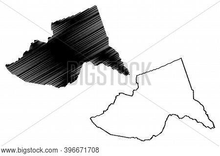 Meru County (republic Of Kenya, Eastern Province) Map Vector Illustration, Scribble Sketch Meru Map