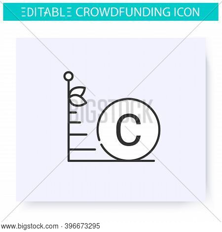 Investment Limit Line Icon.crowdfunding Investitions Limit. Credit Line. Funding And Investment Conc
