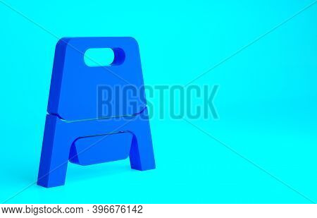 Blue Baby Potty Icon Isolated On Blue Background. Chamber Pot. Minimalism Concept. 3d Illustration 3