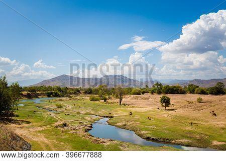 Beautiful Mountain Panorama Taken On Motorbike Trip From Cam Ranh To Dalat, Vietnam. Khanh Hoa, Ninh