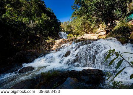 Datanla Waterfall In Dalat Vietnam