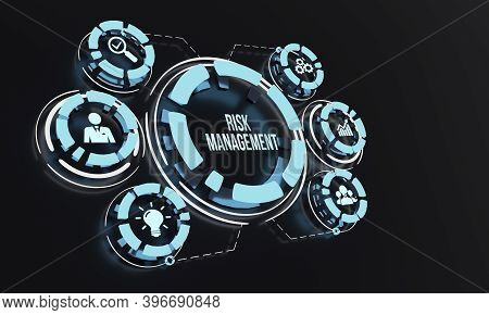 Internet, Business, Technology And Network Concept. Risk Management And Assessment For Business Inve