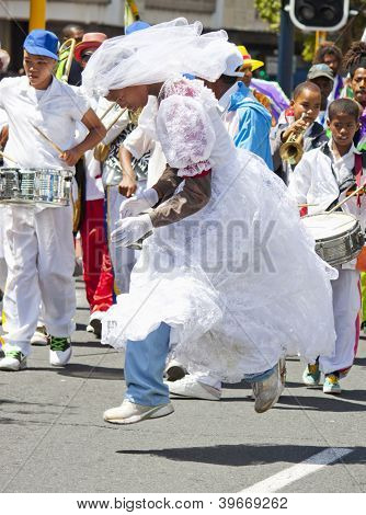 Leaping Bride At Carnival
