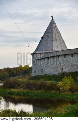Ancient Historical Old Ladoga Fortress Or The Fortress Of Ladoga, Also Known As The Staroladozhskaya