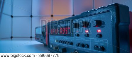 Electronic measuring instrument. Function generator and  Multimeter Instrument for measuring voltage
