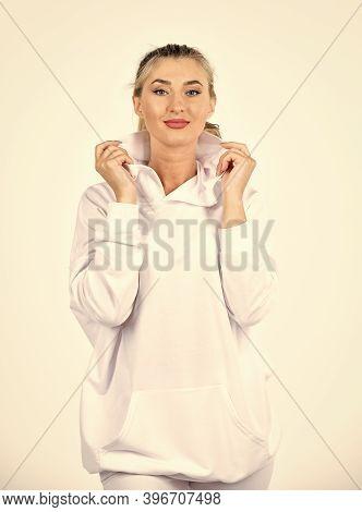 Feel So Sporty. Fitness Woman Wear Sportswear. Impeccable Style. Street Fashion. Girl In Sweatpants