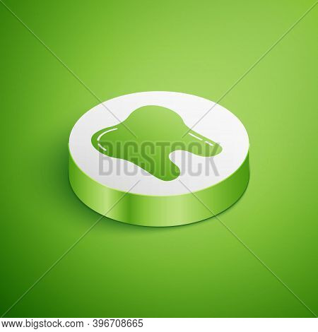 Isometric Tooth Icon Isolated On Green Background. Tooth Symbol For Dentistry Clinic Or Dentist Medi